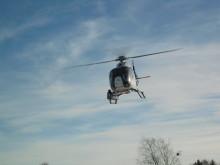Linjebesiktning med helikopter