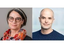 Anna-Greta Gårding, chef på Ledarnas a-kassa, och Daniel Hirsch, pr-konsult på Westander