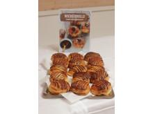 Wienerbolle med vaniljekrem på Unibakedagen 2019