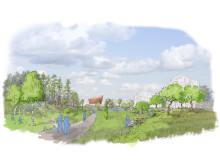 Södra Ladugårdsskogen, visionsskiss