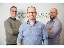 Crossers grundare Johan Jonzon, Martin Thunman och Ulf Björklund