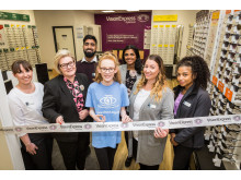 Youngsters battling eye cancer join Vision Express to perform ribbon cuttings at new Manchester opticians