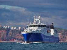 The KONGSBERG-designed NVC 375 WP freezer trawler Ilivileq combines safety, efficiency and sustainability