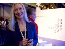 Renate Larsen under lansering av nytt opphavsmerke