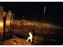 Inuti Tjernobyls reaktor 4, 1990.