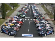 Puolan WRC-rallissa ennätysmäärä Fiestoja