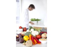 Grønnsaker på Fjordlands kjøkken