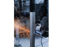 TYROLIT Cerabond System kapar metallbalk med kapskiva i vinkelslip