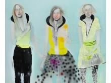"""Cathrine Raben Davidsen: """"Returning of the Favor"""", 2005. Signeret. Olie på lærred. 200 x 240 cm. Uindrammet. Vurdering: 100.000-125.000 kr."""