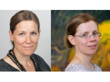 Helena Renström och Malin Lindberg.