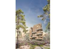 FOJAB arkitekters förslag. Uggleberget, Nya Hovås