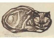 Julie de Graag, Liggende poes, 1917