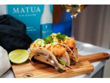 SwedishFoodies Fish Taco och Matua 1,5L Sauvignong Blanc