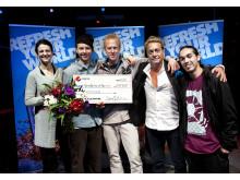 Vinnarna och juryn i Pepsi Refresh Dance Moves