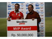 MVP Award of Panasonic Cup 2015 Awarded to Persija Jakarta Player