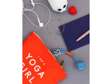 Yoga Girl Small Pouch Coral