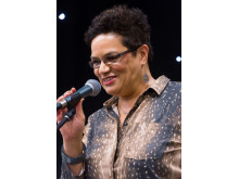 JACKIE KAY: The acclaimed writer appeared on Saturday evening.