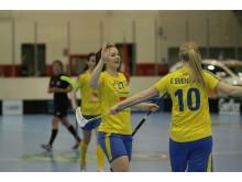 Annie Nilsson stod för tre mål och två assister i Sveriges seger mot Norge.