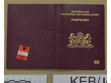 Cover of Netherlands passport recovered during the operation.