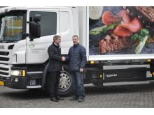 Levering af hybridlastbil til Schulstad