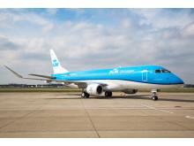KLM är först ut bland de europeiska flygbolagen att  flyga med EMBRAER 175.