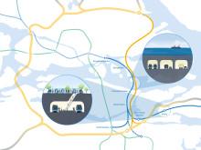 Karta 1 - Projekt Ö:a länken & T-bana Blå