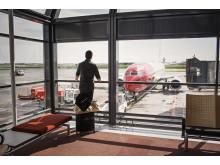 Norwegian passenger and aircraft