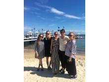 Filip Myringer, Olga Lillienau, Amelie Farmer, Sofia Bleiweiss och Ebba von Zweigbergk i Cannes 2016