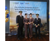 SIngapore Airlines crew på Arlanda