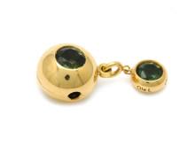 Moderna 16/1, Nr: 50, OLE LYNGGAARD, lås, 18K guld, peridot, längd 2,8 cm