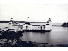 Nynäs havsbad tidigt 1900-tal. Foto Nynäshamns bildarkiv