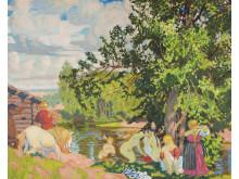 Boris Kustodiev, Badet, 1910