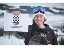 Emil André Ulsletten er klar for X Games. Foto: Daniel Tengs / Snowboardforbundet