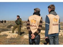 Två följeslagare på Västbanken.
