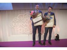 Robert Barkman och Daniel Velasco, vinnare av Årets Berättare