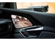 Audi e-tron prototype i rekuperationstest på Pikes Peak - virtuelt sidespejl