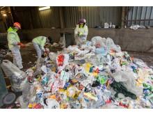 Rutinesjekk av kildesortert plast