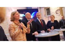 Berit Svendsen, Sigve Brekke, Jonas Gahr Støre og Erna Solberg