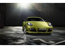 Nya Porsche Cayman R får världspremiär på bilsalongen i Los Angeles. Cayman R front