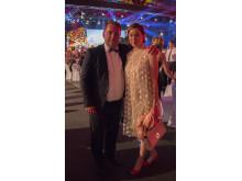 Interfloras tidigare VD John Lilja och nuvarande VD Magdalena Persson var på plats i Berlin