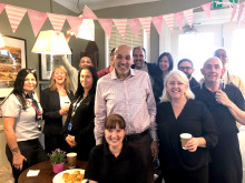 St Neots coffee shop - group celebration