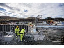 Geitfjellet vindpark okt 2018 trafo og servicebygg