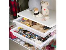 Solida backar för leksaksförvaring