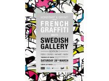 Affisch till evenemanget frensh Graffiti - Swedish Gallery