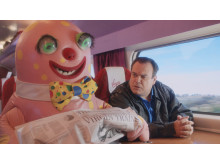 Barry and mr Blobby