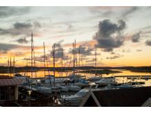 Isfri vinterhamn på TanumStrand