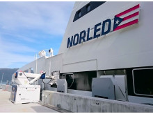 MoorMaster™ automated mooring unit at a passenger ferry berth in Norway