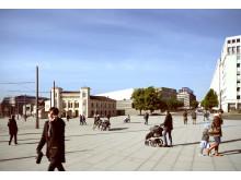 View from Oslo City Hall (Fra Rådhusplassen) - New Nasjonalmuseet at Vesbanen, Oslo