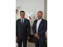 Portuguese Minister of Economy, Prof. Manuel Caldeira Cabral and Dr. Jonas Ekstrand, Director General of SwedenBIO