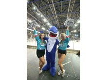 Fans introduced to the Stena Line mascot 'Happy' for the first time